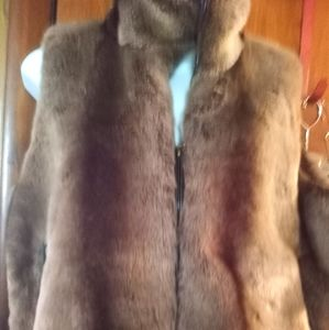 Coldwater Creek faux fur plush vest size m new